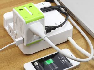 USB lader med router
