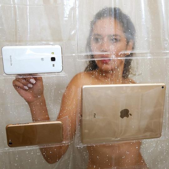 tablet og smartphone badeforhæng