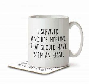 Provokerende kaffekop til arbejde