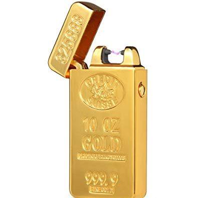 Elektrisk lighter i guld