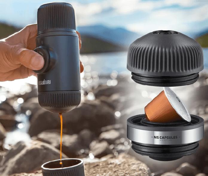 bærbar espresso sæt