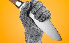 Køkkenhandske der beskytter mod knive