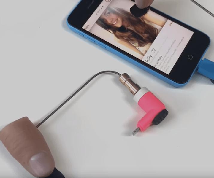 Automatisk finger der kan swipe på tinder