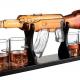 Whiskey flaske formet som gevær