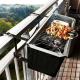 Grill der kan sættes på rækværket på altanen
