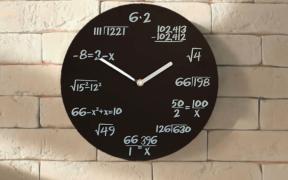 Ur med matematiske formler istedet for tal