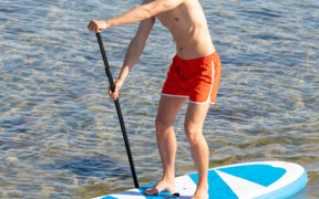 sup surfing paddleboard