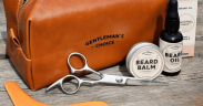 Lædertaske med barbergrej
