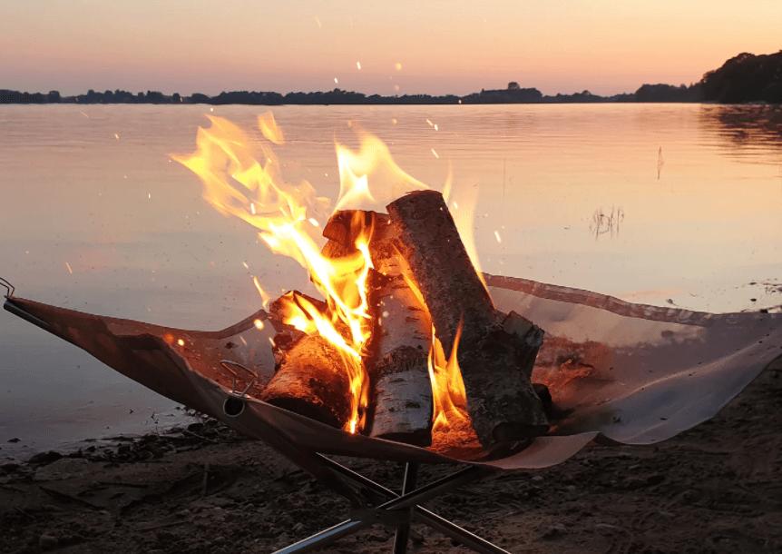 Ildsted med trådnet du kan tage med