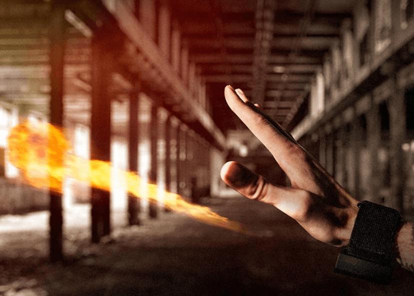 Gadget der kan skyde med ild