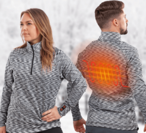 Opvarmet trøje med varmepaneler