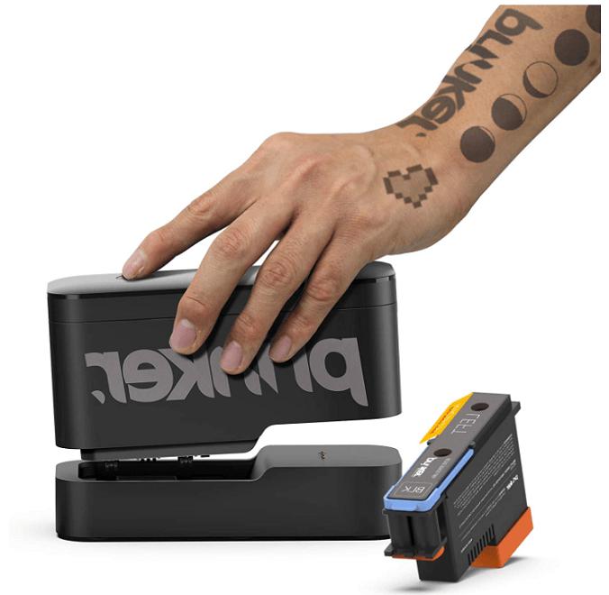Håndholdt printer der kan printe tatoveringer på huden